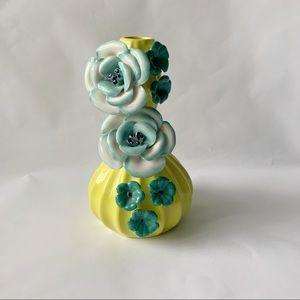 Anthropologie // Green, Teal Flower Bud Vase